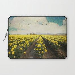 fields of daffodils Laptop Sleeve