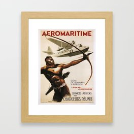 Vintage poster - Aeromaritime Framed Art Print