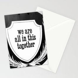 In it together sign Stationery Cards