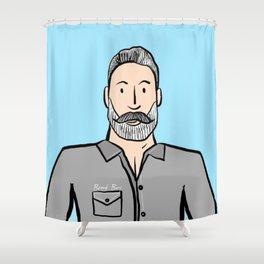 Beard Boy: Greg Shower Curtain
