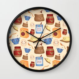 Deconstructed Peanut Butter Cookie Wall Clock