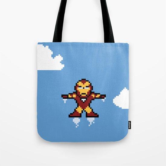 Iron Pixel Tote Bag