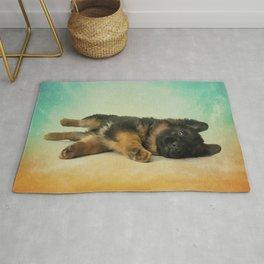 German Shepherd Puppy Rug
