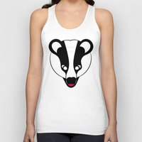badger Tank Tops featuring Badger by Doctor Hue
