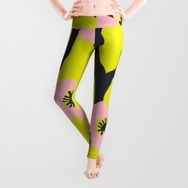Pink Blooms Everywhere No 03 Leggings