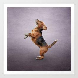 Drawing Dog Beagle 4 Art Print