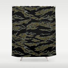 Tiger Camo Shower Curtain