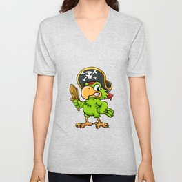 Pirate Parrot Unisex V-Neck
