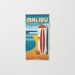Malibu, Surfrider Beach California Hand & Bath Towel