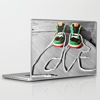 sneaker Laptop & iPad Skins featuring Sneaker Love by SefoG