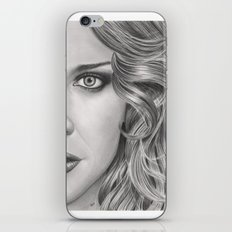 Half Portrait iPhone & iPod Skin