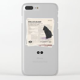 His Master's Voice - Cat Clear iPhone Case