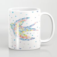 birdman Mugs featuring Triangled Swallow  by XOOXOO