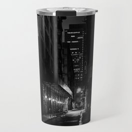 Back Alley Beauty in Black and White Travel Mug