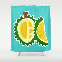 durian fruit barbed plant tropical Shower Curtain