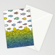 Underwater village II Stationery Cards