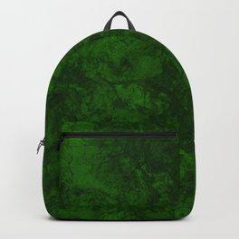 Dark bottle green marble textured suede granite smoke wall stone grunge Backpack