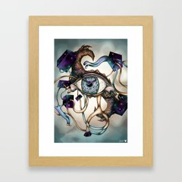 Time traveling Framed Art Print