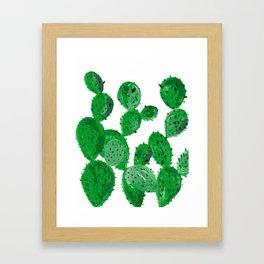 Cactus garden green Framed Art Print