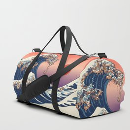 The Great Wave of Dachshunds Duffle Bag