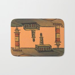 In Love with the Sea / Lighthouses Fuencaliente Bath Mat