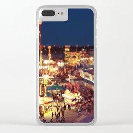 Tilt Shift Carnival Clear iPhone Case