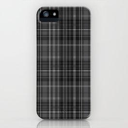 Black Grey Plaid iPhone Case