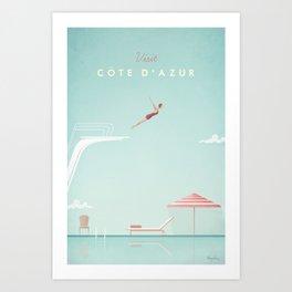 Vintage Côte d'Azur Travel Poster Kunstdrucke