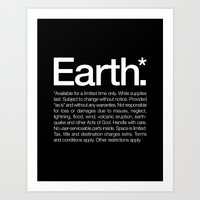 Earth.* Available for a limited time only. Art Print
