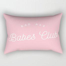 BADASS BABES CLUB PINK Rectangular Pillow