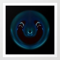 Caduceus Water X Art Print