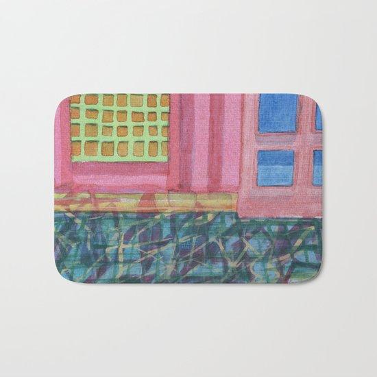 Interieur with pink Wall Bath Mat
