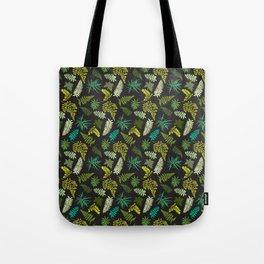 Forest Ferns Illustrated Pattern Tote Bag