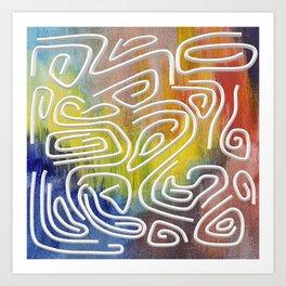 Abstract Calligraphy! Art Print