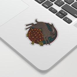 hare tortoise mandala Sticker