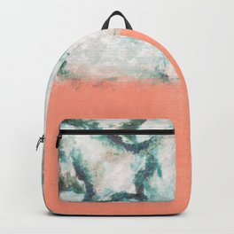 pink blue white Backpack