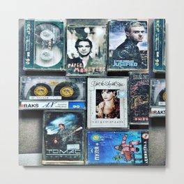 Old cassettes Metal Print