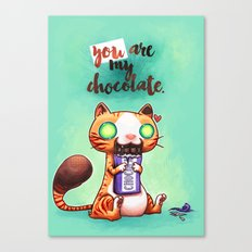 Chocolate addict Canvas Print