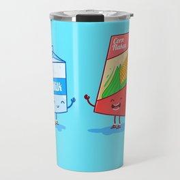 Milk and Corn (Best friends. Character set.) Travel Mug