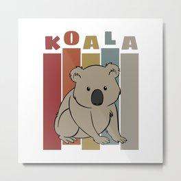 Cute Retro Koala Metal Print