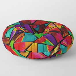 Window to a Colorful Soul Floor Pillow