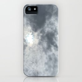 Gloomy sky and clouds iPhone Case
