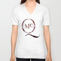 steve mcqueen V-neck T-shirts featuring McQueen by TOM MONFORTI
