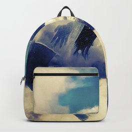 Woman and sky Backpack