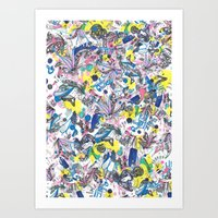 Abstracted Icons and Reliquaries  Art Print