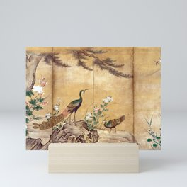 Kano Mitsunobu Birds, Trees, and Flowers Mini Art Print