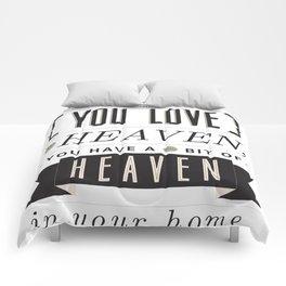 Someone In Heaven-BLACK Comforters