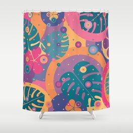 Tropical Dots Shower Curtain