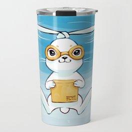 Postal Bunny Travel Mug