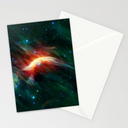Zeta Ophiuchi runaway star plowing through space dust Stationery Cards